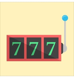 jackpot icon in flat style vector image