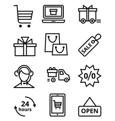 Online Store icon vector image vector image
