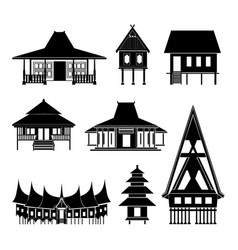 thai architecture pavilion history building vector image vector image