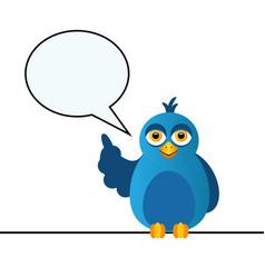 the blue bird says vector image