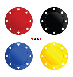 chips for gambling in four color vector image