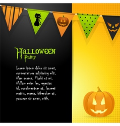 halloween pumpkin panel background vector image vector image