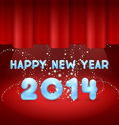 Magic Happy New Year on stage vector image