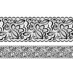 seamless Lace flowers and leaves vector image vector image