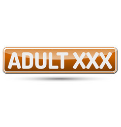 Adult xxx - abstract beautiful button with text vector