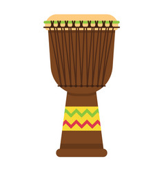 african djembe drum flat icon music vector image