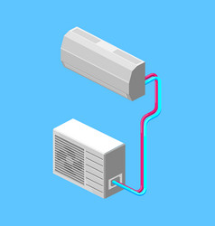 Air conditioner isometric vector