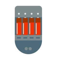 Battery charger with batteries energy power vector image