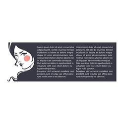 Beauty banner vector