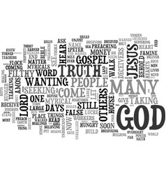 Behold the days come text word cloud concept vector