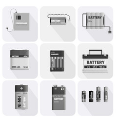 black and white charging devices set vector image