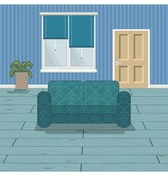 Blue room vector