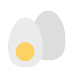 boiled egg in half icon imag vector image