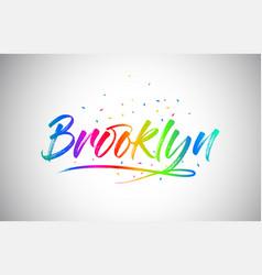 Brooklyn creative vetor word text with vector