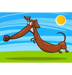 cartoon happy dachshund dog vector image