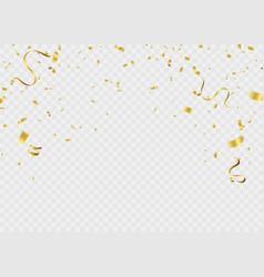 Celebration background template ribbon gold vector
