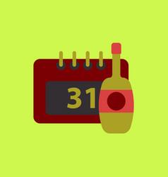 Champagne bottle christmas vector