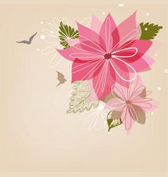 christmas poinsettia flower or star vector image