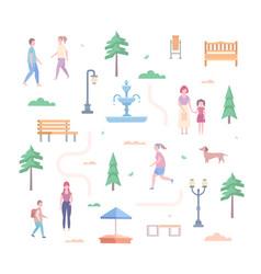 City park elements - set of modern flat design vector