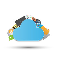 cloud storage system technology concept data vector image