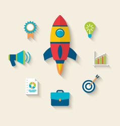 Concept of launch a new innovation product vector