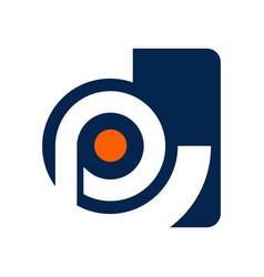 Cp letter initial alphabet logo design template vector
