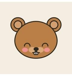 cute bear tender isolated icon vector image