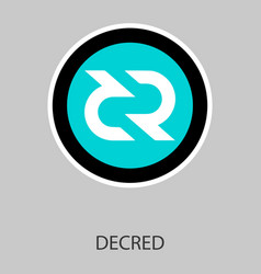 decred coin cryptocurrency sign vector image