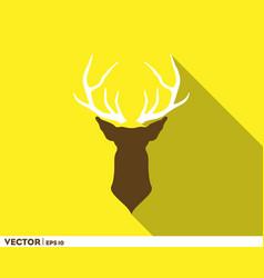 deer horn head logo vector image