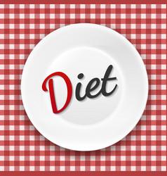 Diet plate vector