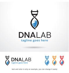 Dna lab logo template vector