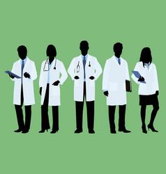 doctors in lab coats vector image