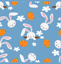 easter bunny seamless pattern vector image