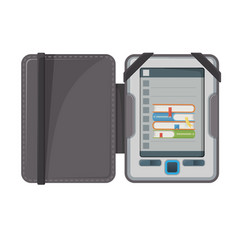 electronic book device makes available vector image