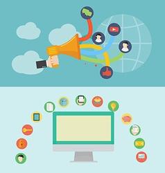 element social media icon in flat design vector image
