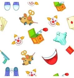 First of april pattern cartoon style vector