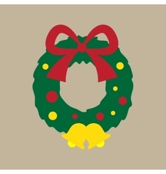 Flat icon on stylish background Christmas wreath vector