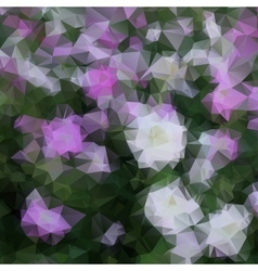 floral background polygon vector image