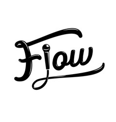 Flow hand drawing design with microphone vector