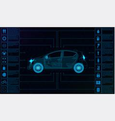 futuristic user interface car service hud vector image