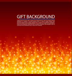 gift background fire cover magic background vector image