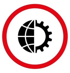 Global Industry Flat Rounded Icon vector