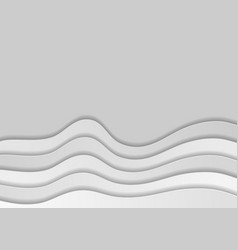 Grey corporate waves abstract modern background vector