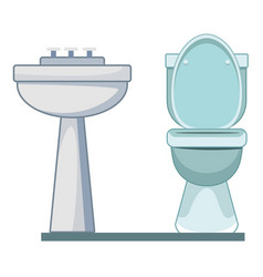 Handwashing and toilet icon cartoon vector