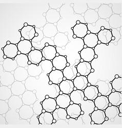Hexagonal molecule structure of dna vector