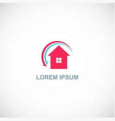 home arrow logo vector image