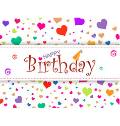 horizontal design template card happy birthday o vector image