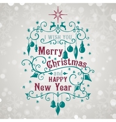 I wish you a Merry Christmas and Happy New Year vector image
