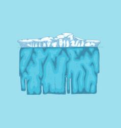 Iceberg polar ice mountain glacier icon vector