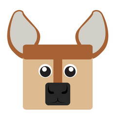 Isolated deer face vector